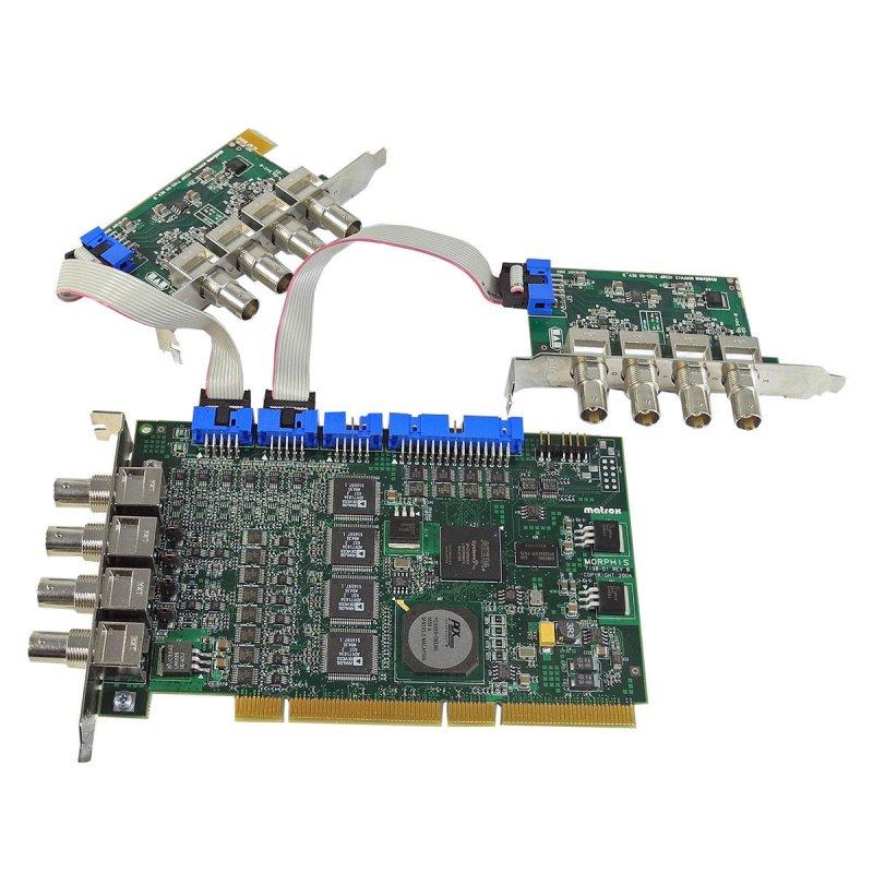 Matrox Morphis MOR/4VD + 2x MOR-4COMP Frame Grabber Card / Bilddigita