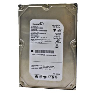 Seagate Barracuda ES 750GB 3,5 PATA/IDE HDD Model: ST3750640NA  P/N: 98L048-045