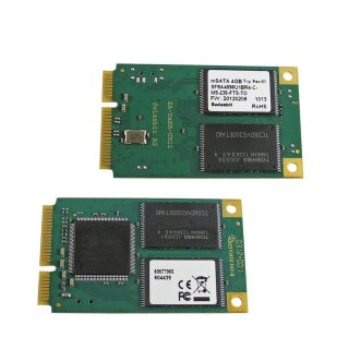 Swissbit mini-PCIe mSATA 4GB SSD Memory Card PN: SFSA4096U1BR4-C-MS-236-FTS-TO