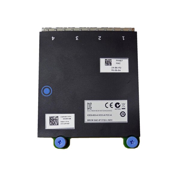 DELL BroadCom 5720-t rNDC 4-Port Gigabit Ethernet Network Daughter Card  0FM487