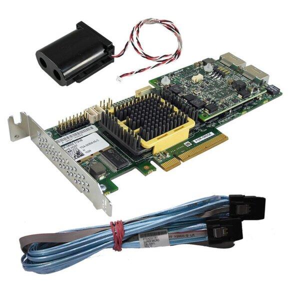 Adaptec ASR-5405Z SAS//SATA 512mb RAID Controller Card TCA-00304-07+BBU /& Cable